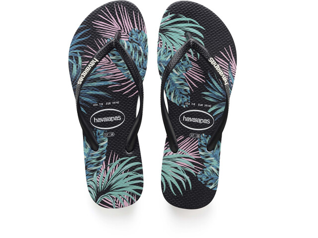 72cc8ae6eb6bb9 havaianas Slim Tropical Floral Sandals Women black at Addnature.co.uk